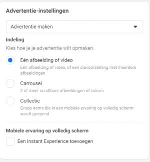 Facebook advertentie maken 3